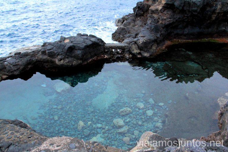 Charco Azul, literalmente Playas de La Palma, dónde bañarse en la Palma en invierno también