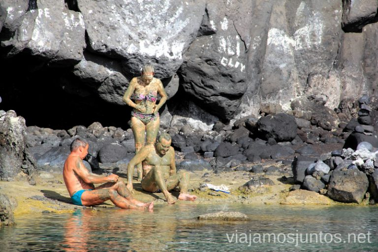 Arcillas medicinales, según los alemanes. Playas de La Palma, dónde bañarse en la Palma en invierno también