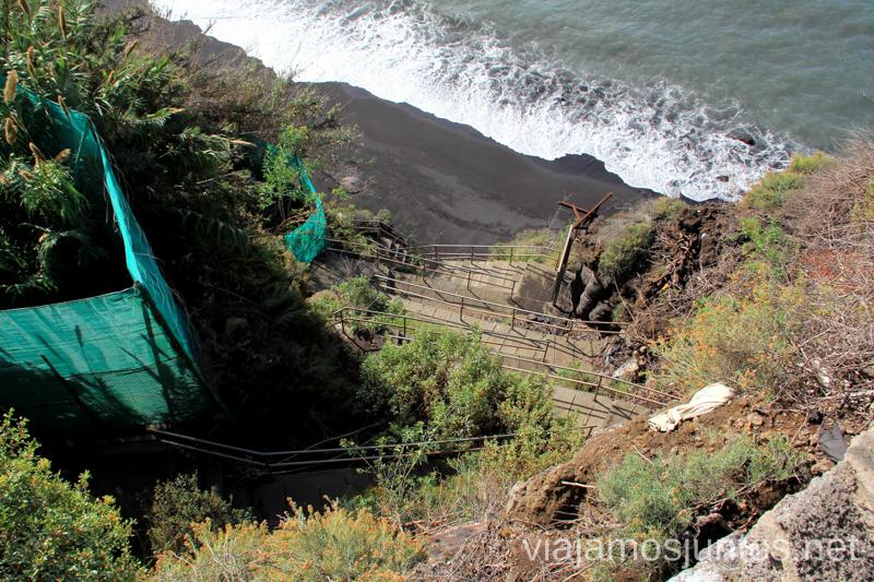 Playa escondida de surfistas, Tazacorte Playas de La Palma, dónde bañarse en la Palma en invierno también