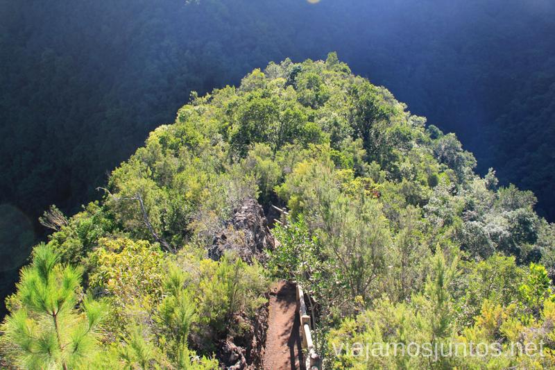 Mirador Ruta de los Nacientes de Marcos y Cordero, la Palma, Islas Canarias