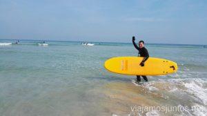 Surfear por primera vez: surfear en Galicia