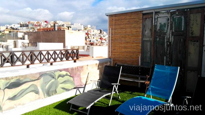 Terraza de The Boutique Rooms, La Fabrica de Chocolate Dónde dormir en Gran Canaria