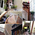 Detalles de la escalera de la Fábrica de Chocolate Dónde dormir en Gran Canaria