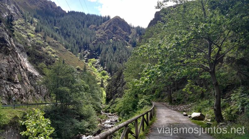 La Senda del Oso - antigua vía férrea Senda del Oso en bici, Astrurias