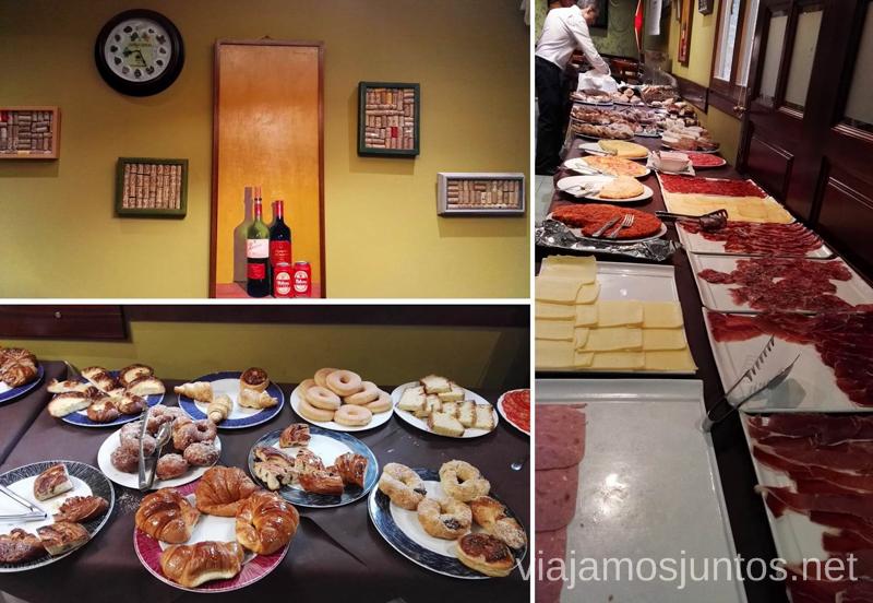 Desayuno en el Gran hotel Rural Cela, Belmonte de Miranda, Asturias Qué ver y hacer en Belmonte de Aranda, Asturias