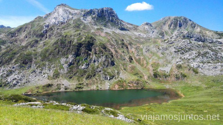 Lago Cerveiriz o Cerveriz. uno de los lagos de Saliencia en el Parque Natural de Somiedo, Asdturias Ruta de los lagos de Saliencia Parque Natural de Somiedo Asturias