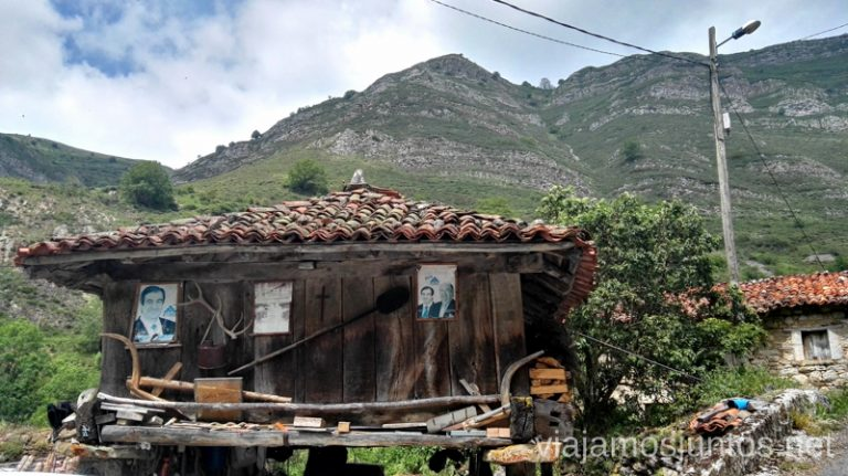 Hórreo en Endriga Ruta en coche por los pueblos con encanto del Parque Natural de Somiedo