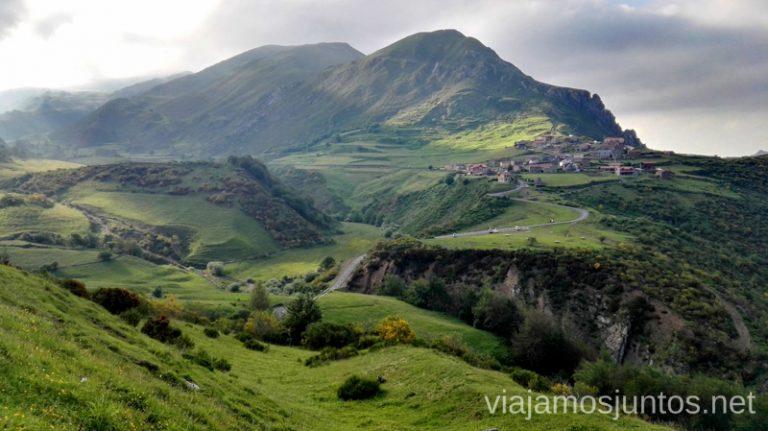 La PEral desde la carretera del Puerto Ruta en coche por los pueblos con encanto del Parque Natural de Somiedo