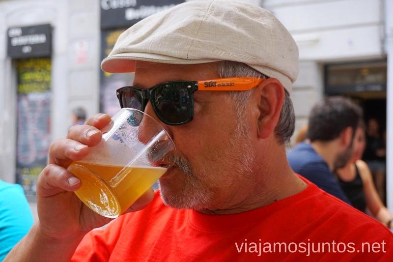 Una cervecita bien fresquita para calmar los veranos de Madrid #ViajarConSuegra Cómo viajar con padres o gente mayor y no morir en el intento