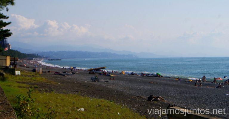 Playas de Kobuleti, costa de Georgia Qué ver y hacer en la costa de mar Negro de Georgia Información práctica Batumi Kobuleti Ureki