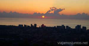 Atardecer desde el teleférico de Batumi Qué ver y hacer en la costa de mar Negro de Georgia Información práctica Batumi Kobuleti Ureki