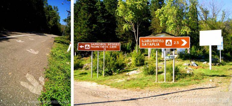 Cruce para ir a La Cueva de Prometeo y la Cueva Sataplia. Qué ver y hacer en Kutaisi y alrededores Georgia