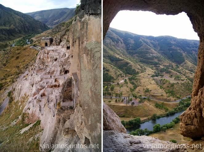 Vistas desde algún rincón de Vardzia Vardzia. Qué ver e información práctica
