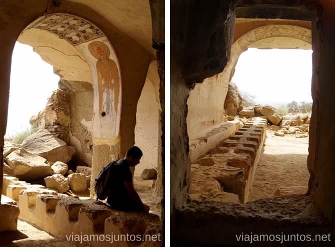 Cuevas - monasterios del monasterio Udabno Cómo visitar el complejo monástico David Gareja en Georgia