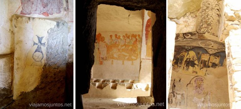 Frescos centenarios en David Gareja Cómo visitar el complejo monástico David Gareja en Georgia