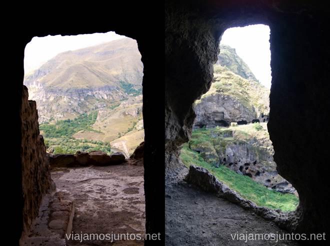 Vanis Qvabebi. Vistas desde la capilla Vardzia. Qué ver e información práctica