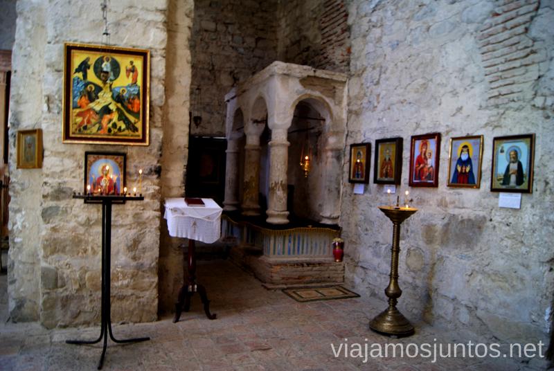 Interior del Monasterio de Ikalto, Georgia Qué ver en Telavi, Georgia, y los alrededores