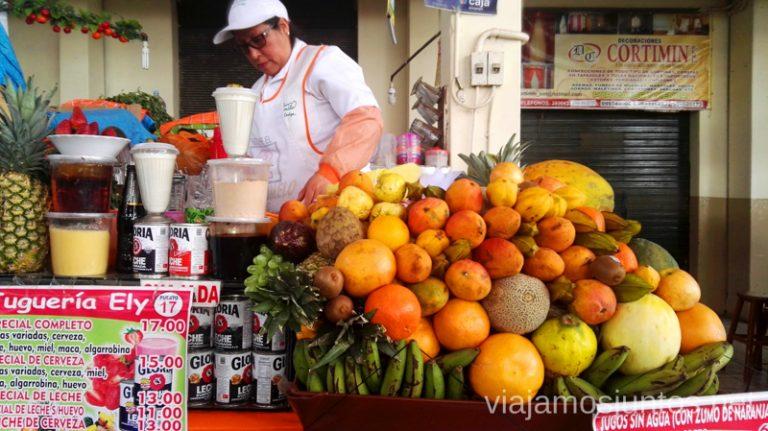 La señora de los zumos del mercado en Arequipa Lo que me molesta y encanta de los peruanos Peru #PerúJuntos Perú