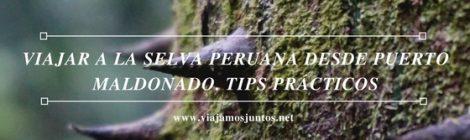 Consejos prácticos para organizar tu viaje a al selva de Perú #PerúJuntos