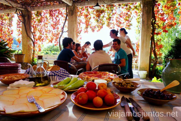 Comida en casa de un pagés en la Sierra de Tramuntana Un fin de semana en las Islas Baleares Mallorca