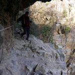 Un paso complicado con cadenas en la ruta de las Gorges de Caranca Ruta de las Gorges de Caranca Qué ver y qué hacer en Francia