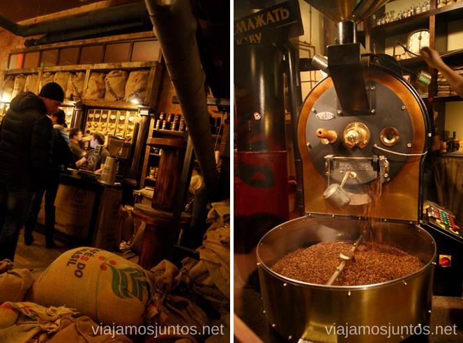 La tienda de la Mina de Café con el molinillo Donde comer en Lviv Restaurantes curiosos y bien de precio Ucrania