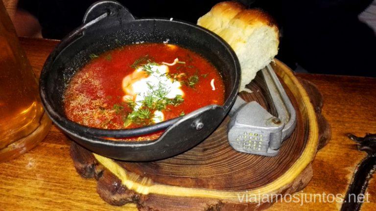 Borshch - uno de los platos más típicos de Ucrania Viajar a Ucrania #ViajamosJuntos #XmasJuntos #UcraniaJuntos