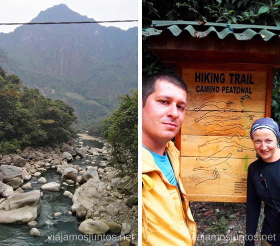 Justo antes de empezar la ascensión andando a Machu Picchu Cómo llegar a Machu Picchu Aguas Calientes desde Cusco y Ollantaytambo Peru #PerúJuntos Perú