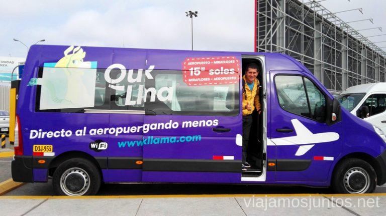 Servicio de Quick Llama para llegar desde el aeropuerto de Lima a la ciudad. Como llegar desde el aeropuerto de Lima a la ciudad de la manera segura y barata Peru #PerúJuntos Perú