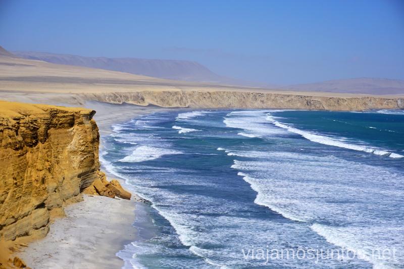 Playa Supay en la Reserva Nacional de Paracas. Qué ver y hacer en Paracas. Organizar la visita a las islas Ballestas y Reserva Nacional de Paracas Peru #PerúJuntos Perú