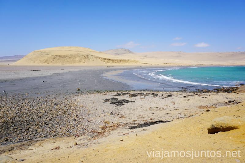 Playa Mendieta en la Reserva Nacional de Paracas. Qué ver y hacer en Paracas. Organizar la visita a las islas Ballestas y Reserva Nacional de Paracas Peru #PerúJuntos Perú