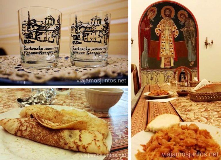 Cena y desayuno en el Monasterio Bachkovski. Dormir en monasterios en Bulgaria Consejos prácticos y nuestra experiencia #BulgariaJuntos
