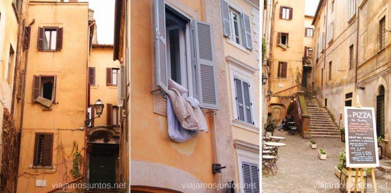 Fíjate en detalles de las calles. Qué ver y hacer en Roma Dónde comer en Roma