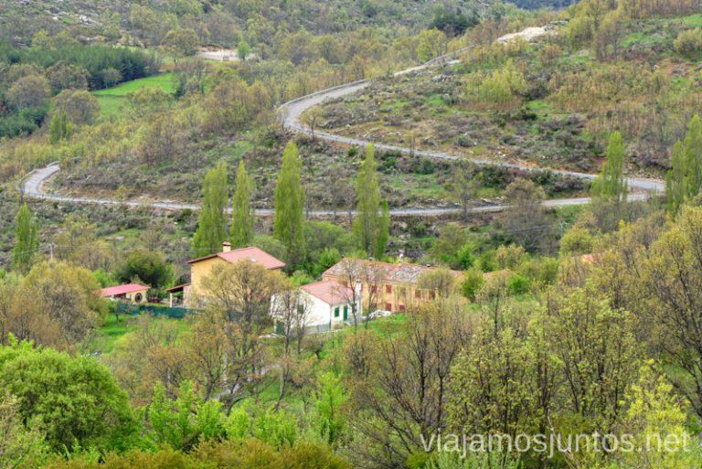 Vistas de la Sierra Norte de Gredos desde el Blacón de Gredos en San Bartolomé de Tormés, Barrio Alto. Qué hacer en Gredos Norte, la Sierra Norte de Gredos. Dónde dormir y dónde comer