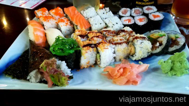 Bandeja de sushi en el japonés Yamato en el Albir. Qué hacer en Benidorm y alrededores #RumboSurJuntos
