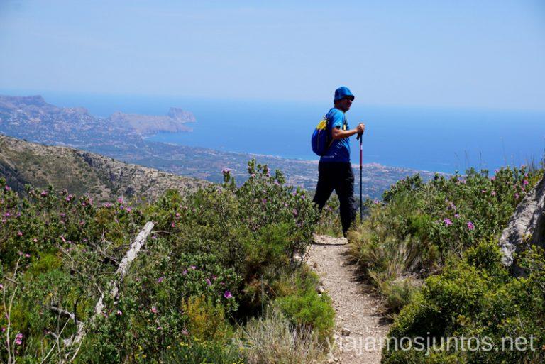 Volviendo a ver las vistas. Ruta de la ascensión al pico de Puig Campana Qué hacer en Benidorm y alrededores #RumboSurJuntos