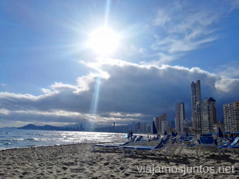 Playa del Levante en Benidorm. Qué hacer en Benidorm y alrededores #RumboSurJuntos