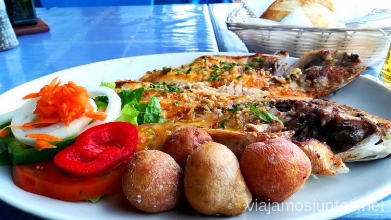 La Casita de la Playa en Arrieta. Sama a la plancha. Dónde comer en Lanzarote, Islas Canarias #LanzaroteJuntos Canary Islands Gastronomía
