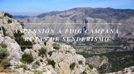 Ruta de la ascensión al pico de Puig Campana.