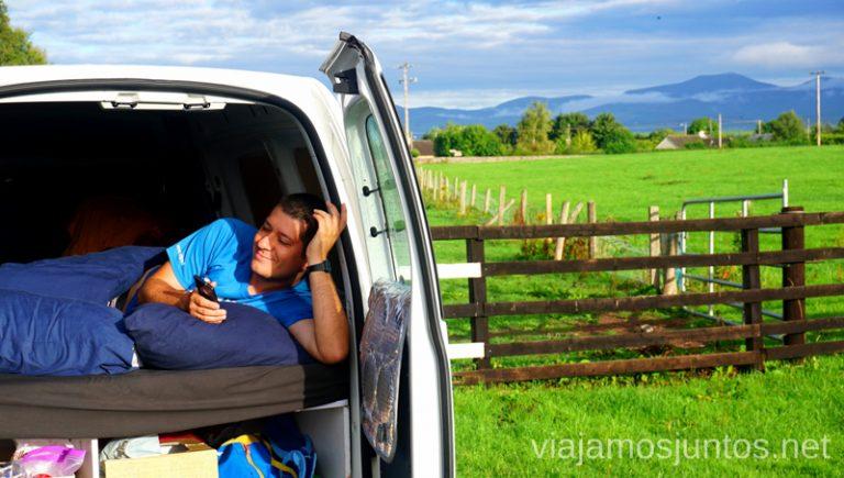 Disfrutando de la campervan en Irlanda. Roadtrip por Ireland's Ancient East. Consejos prácticos. #IrlandaJuntos