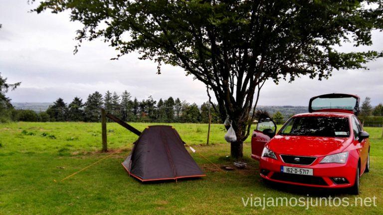 Alojamiento barato en Irlanda: campings. Dónde dormir durante tu viaje por Irlanda Alojamiento barato en Irlanda #IrlandaJuntos