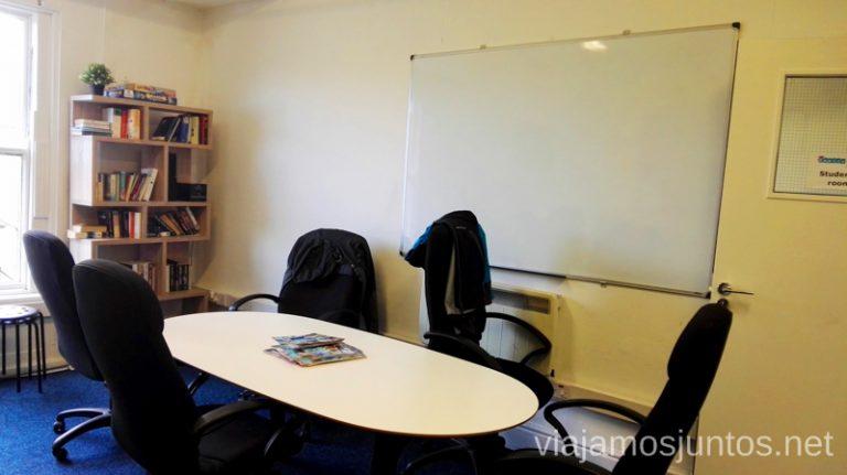 Sala de profesores y alumnos, Englishour. Dónde estudiar inglés en Dublín Irlanda #IrlandaJuntos Escuela de inglés Englishour