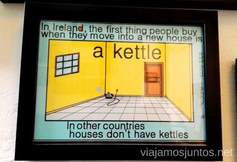 ... y más carteles interesantes entre pisos de Englishour para descansar y seguir practicando inglés. Dónde estudiar inglés en Dublín Irlanda #IrlandaJuntos Escuela de inglés Englishour