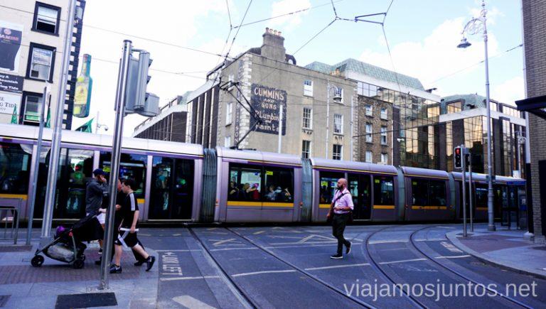 LUAS. Transporte público de Dublín. Transporte público en Dublín e Irlanda. LEAP card #IrlandaJuntos