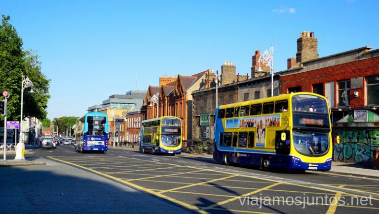 Autobuses en Dublín. Transporte público en Dublín e Irlanda. LEAP card #IrlandaJuntos