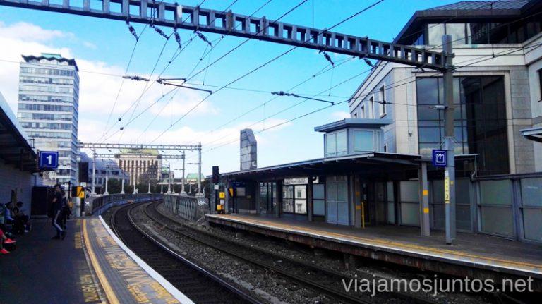 Trenes en Dublín. Transporte público en Dublín e Irlanda. LEAP card #IrlandaJuntos