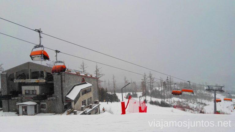 Vysoke Tatry en invierno. Esquiar en Eslovaquia. Dónde esquiar en Eslovaquia. Consejos prácticos. Viajar en invierno en Eslovaquia.