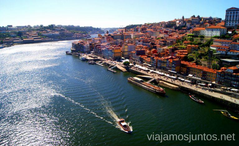 Vistas de la Ribeira de Oporto desde el puente Luis I, Qué ver y hacer en Oporto en un día Portugal