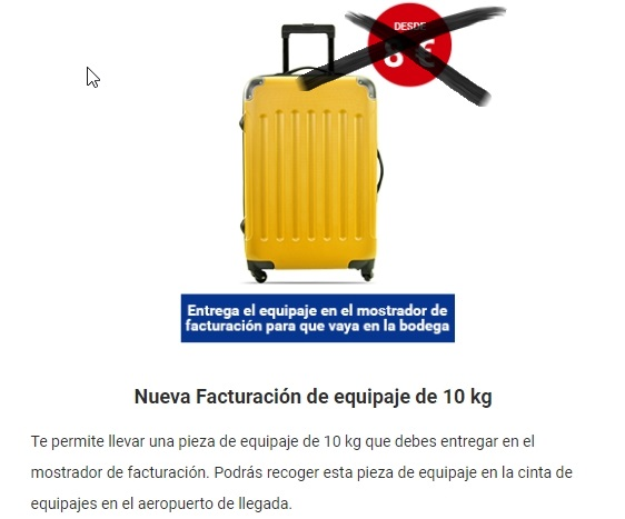 Maleta facturada de Ryanair. Equipaje de mano de Ryanair: nuevos precios y medidas.