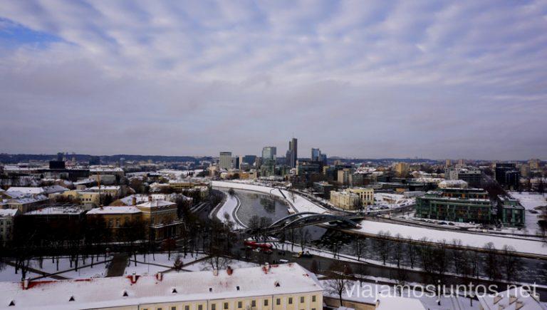 Vistas panorámicas de Vilnius. Consejos prácticos para viajar a Países Bálticos en invierno.